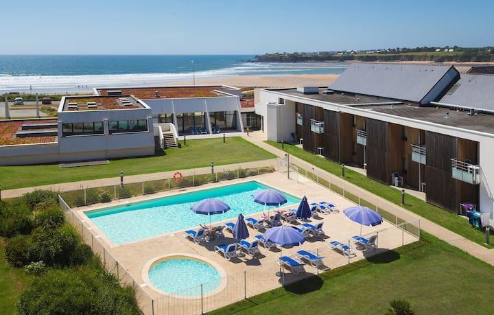 Appart + piscine chauffée | Espace évasion près de la plage