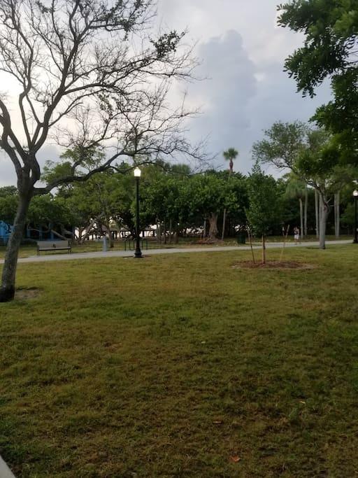 The park across the street