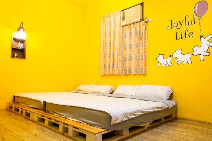 1Fb Double Queen Bedroom 步行2分鐘到安平老街 6分鐘安平古堡