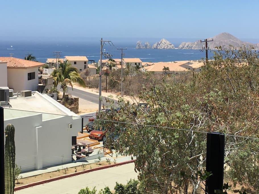 Vista al mar desde terraza
