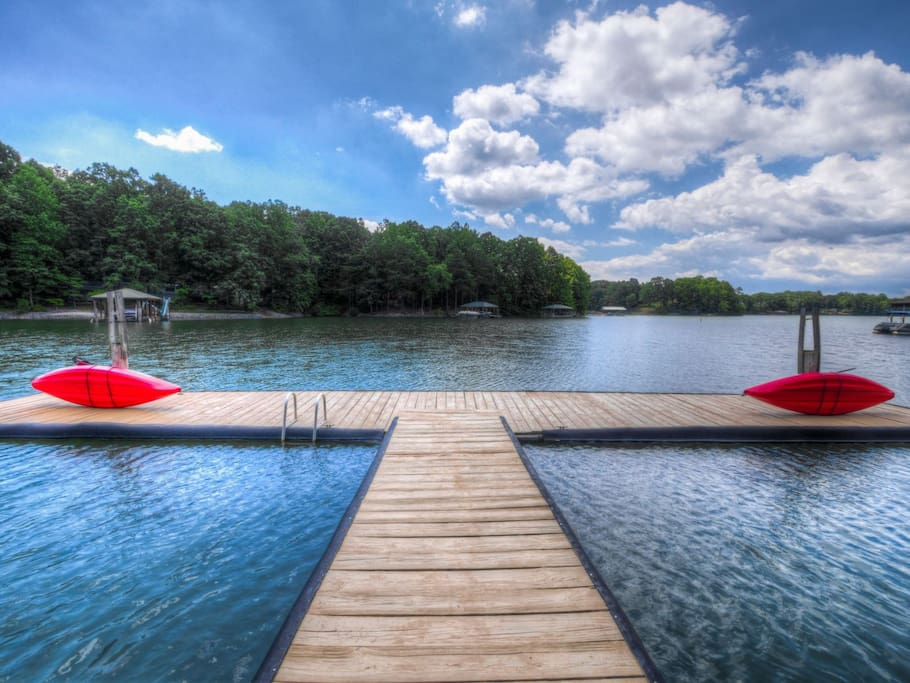Kayaks and Boat Dock