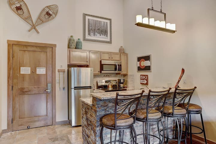 Kitchen counter with space for four
