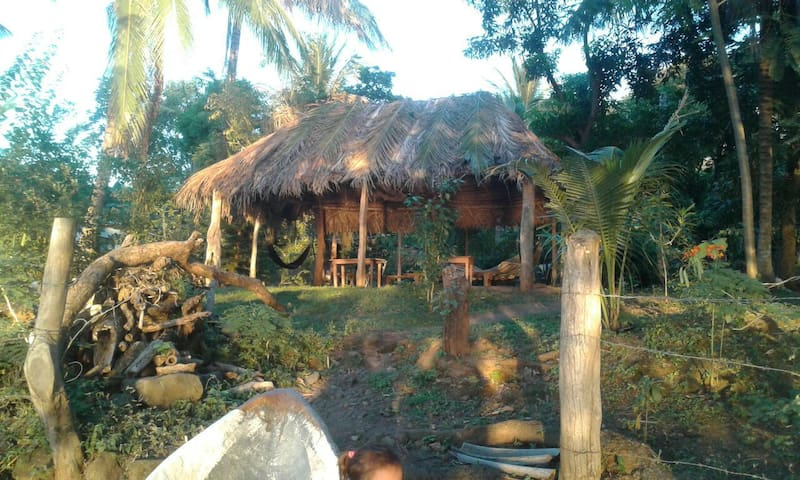 Where people can enjoy of a magical sunset from the  hammocks and tables in the ranch close to the Beach.