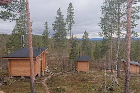 Wilderness cabin off the grid, for aurora hunting.
