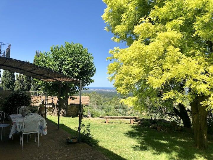 Casa Malerin giardino privato con vista mare