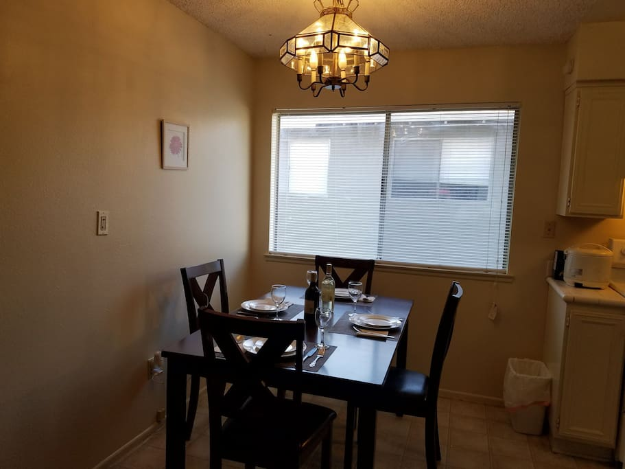 Dining Area with welcome Battle of wine