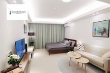 【邦迪】阳江海陵岛敏捷黄金海岸最新BondiApart.,园景大床房,临近大角湾闸坡