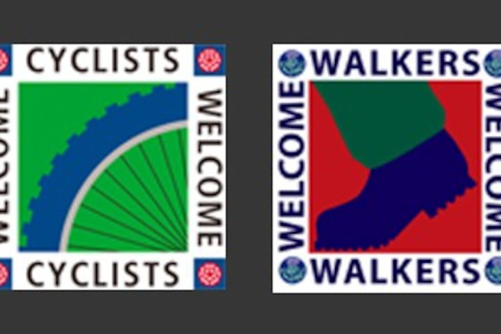 CYCLISTS/WALKERS WELCOME