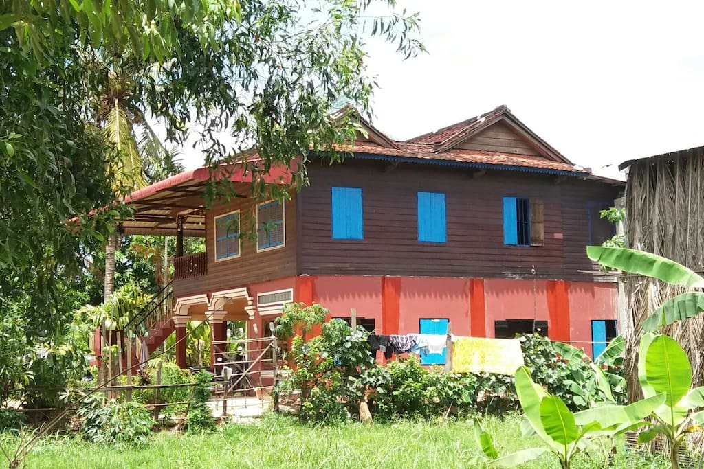 Homestay House; 1F for guest, 2F for host family