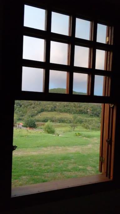 Vista da janela da suíte