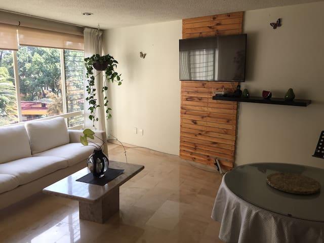 Linda habitación con baño privado en Coyoacán