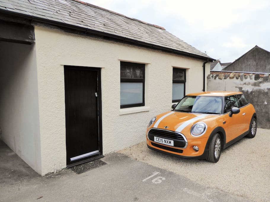 Secure off street car parking for one car is  available, directly outside our Coach House accommodation.
