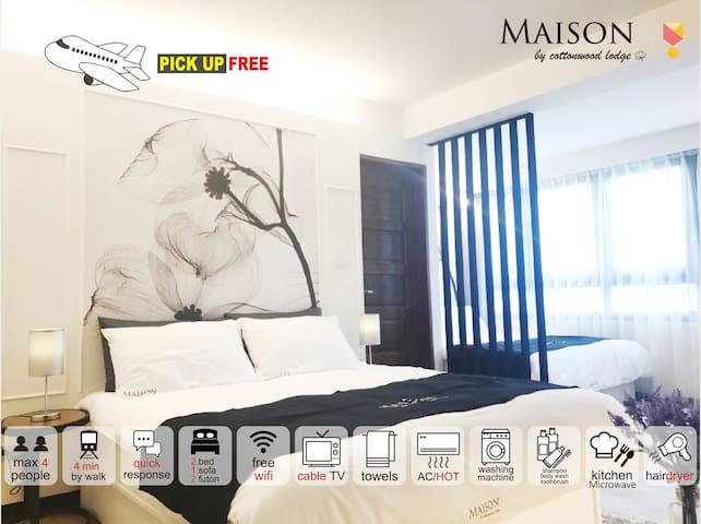 【Maison-F】DongmenMrtWalk4min-Quiet/Cosy/PickUpFree