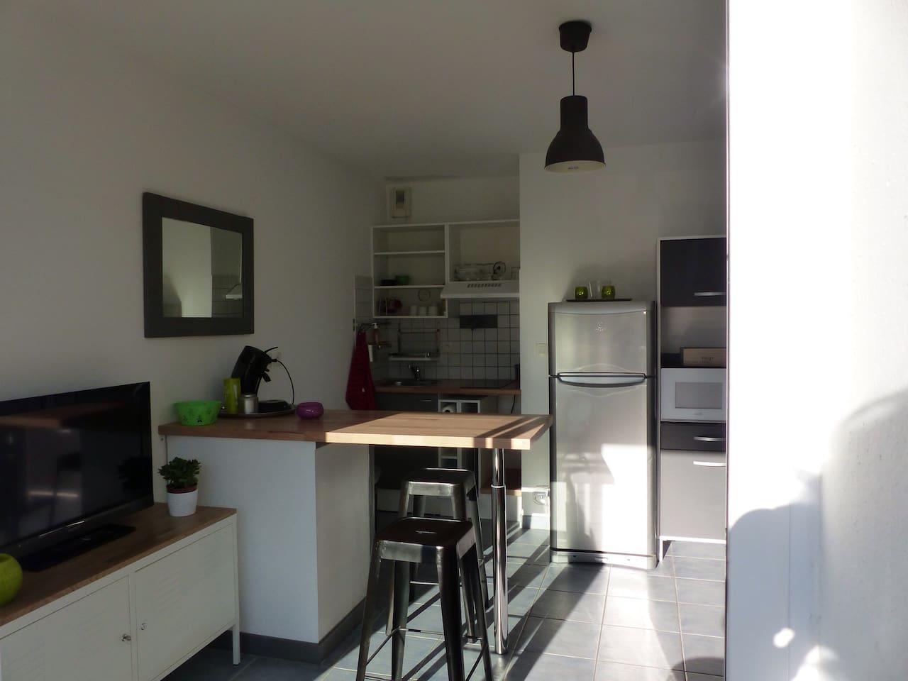 Vu de le petite cuisine