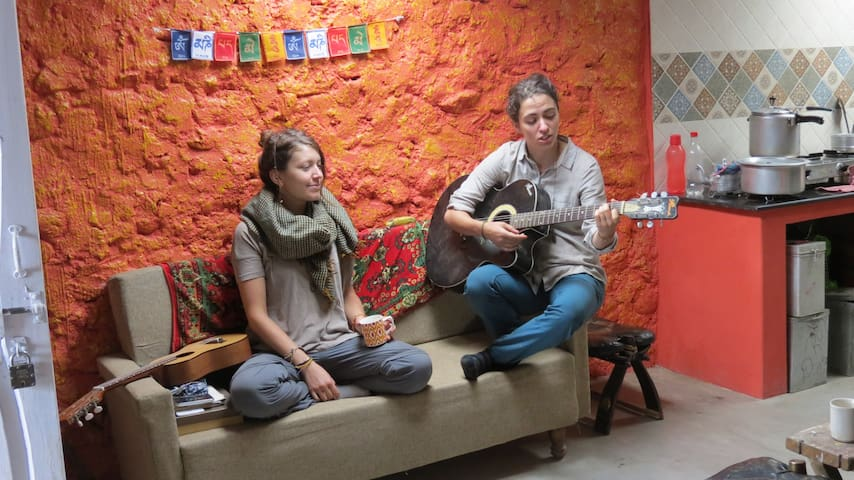 After a hard day's work in the farm, our evenings are mostly spent harmonising! :)