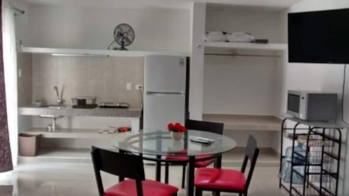 Departamento cómodo con aire acondicionado
