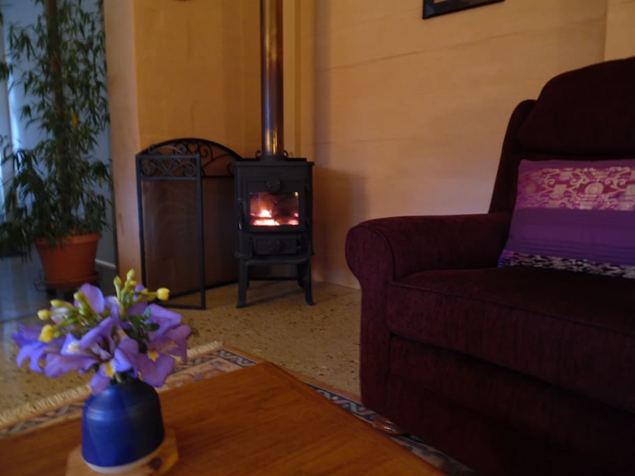 A cosy fire to keep you warm ...