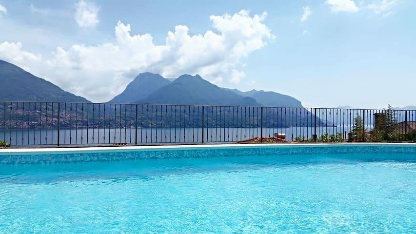 """""""La Casa di Sergio """"-vista lago,piscina,wifi-"""