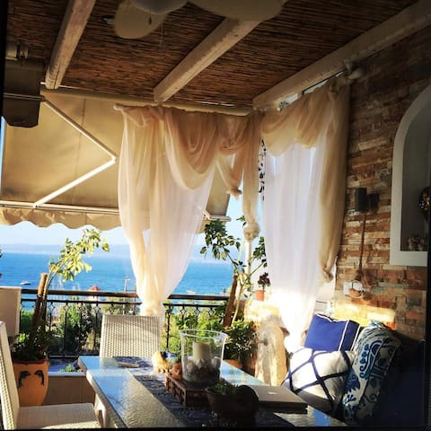 Beachfront Designer house , sandy beach...paradise - Agia Triada