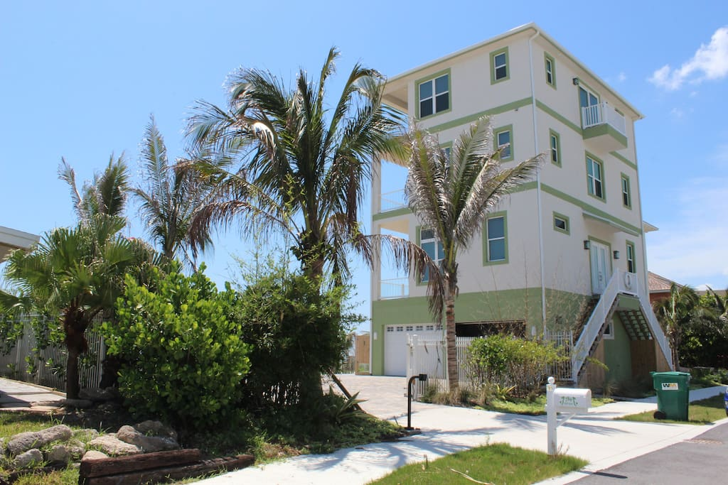 Your studio is on the ground floor of this gorgeous new oceanfront home.