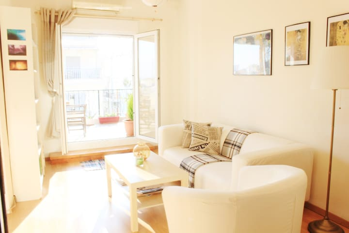 Sunny central apartment, nice view, fully equipped
