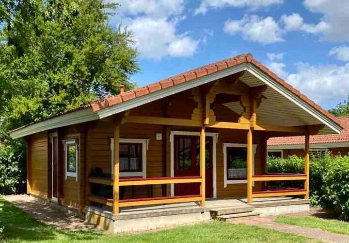 Heerlijk houten vakantiehuisje op een vakantiepark