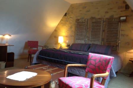 Tout un étage pour vous , 2 chambres confortables - Landévant - Oda + Kahvaltı
