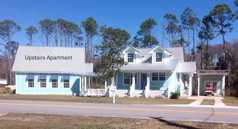 Sugar white sand beaches,  quiet Florida cottage