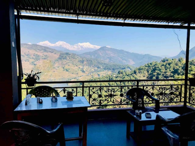 Coffee House overlooking the Himalayas