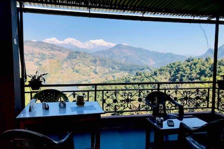 Coffee House overlooking the Himalayas