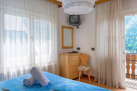 Le camere con la vista sulle foreste di Auronzo