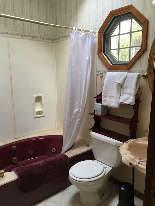 Bathroom has skylight