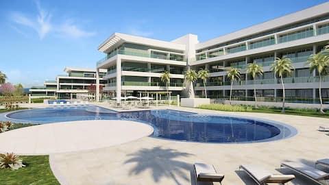 Flat à beira do lago, Lake View Resort de Brasília