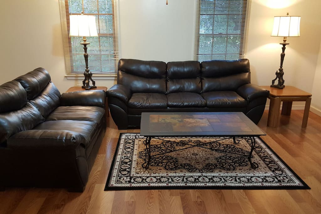 Living room couch and loveseat