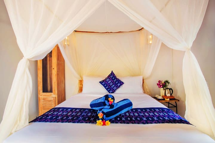 amazing room featured with AC, Fan, WIFI, minibar, TV, DVD player with some movie selected, mosquito net, private plunge pool, private terrace