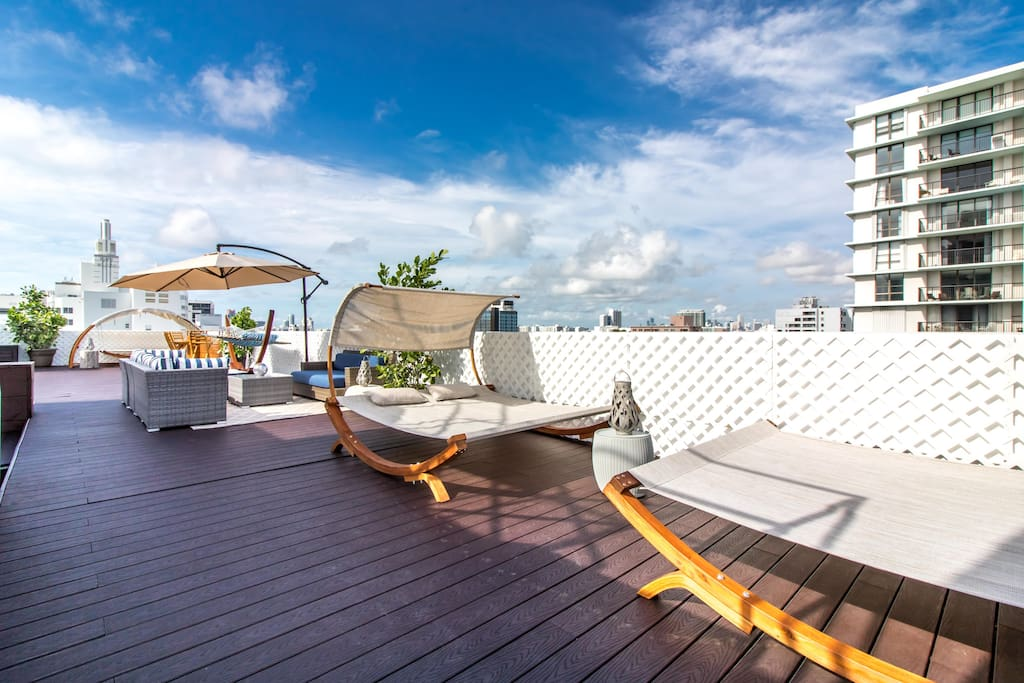 3,500 square foot private roof terrace