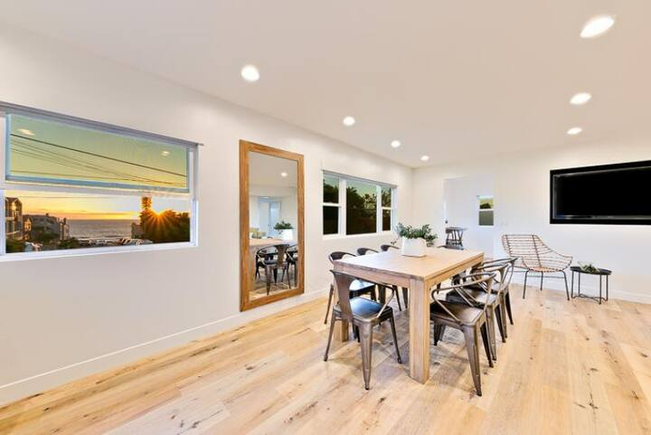 Beautiful Unobstructed Ocean View Home + Walk to Beach