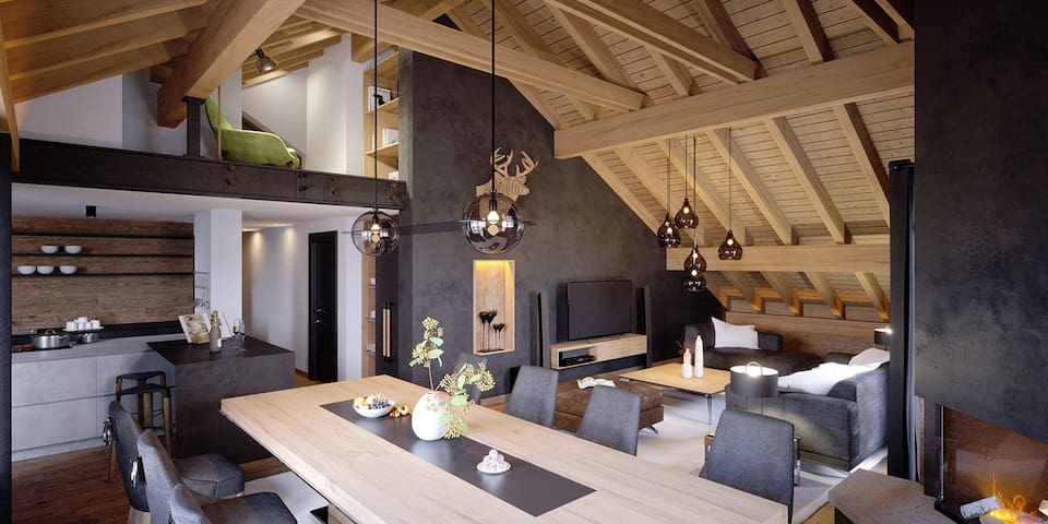Central, Luxury, Chalet-Style Penthouse Apartment