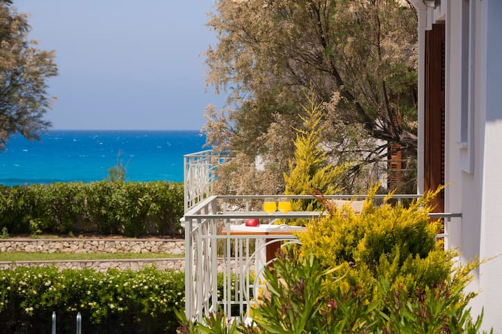 Aeriko-Ammos Beachfront villa with Stunning View and Rrivate Pool.
