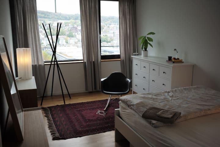 Individual room in design flat, urban living, art