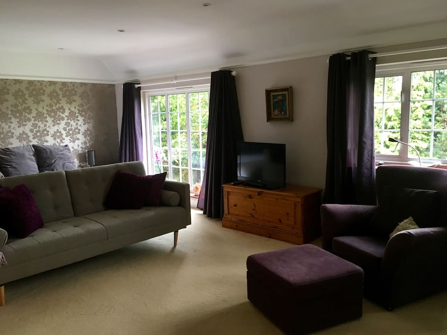 Your own suite with plenty of room to relax, beautiful views overlooking the rear garden.