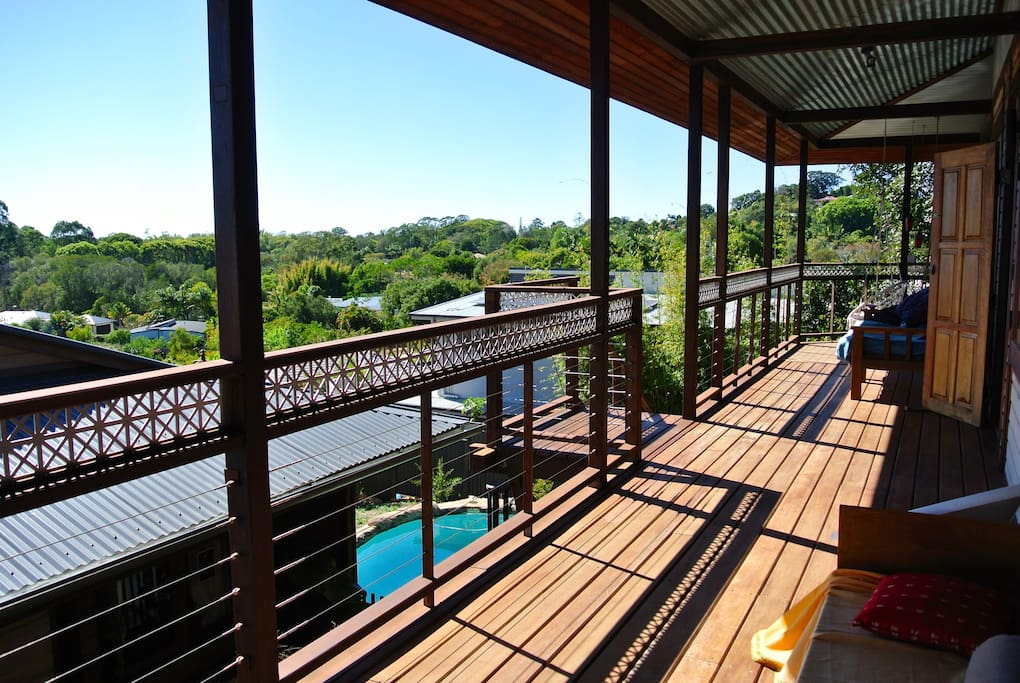 Breathtaking views from the wrap around deck