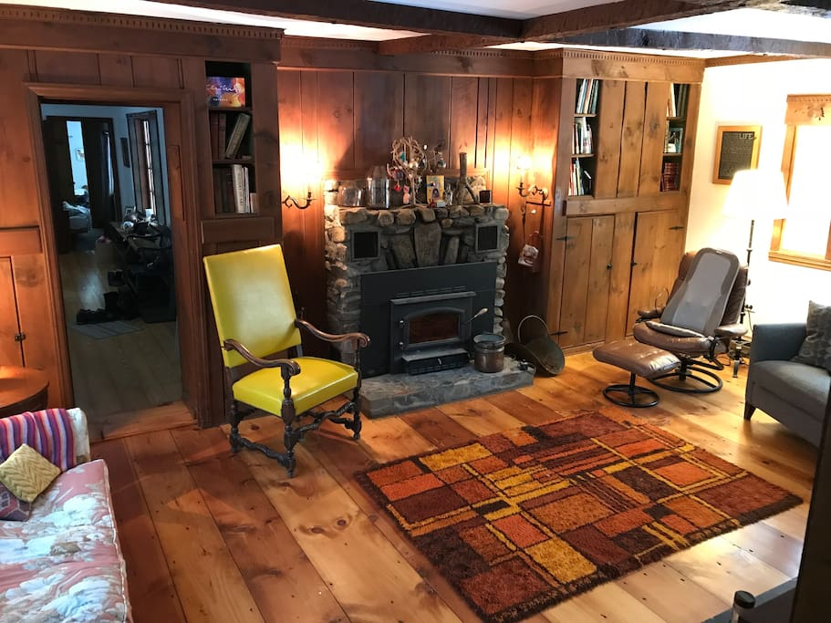 Cozy up to the toasty wood stove