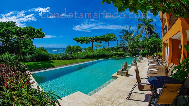 Luxury Beachfront 3 bdrm with direct beach access