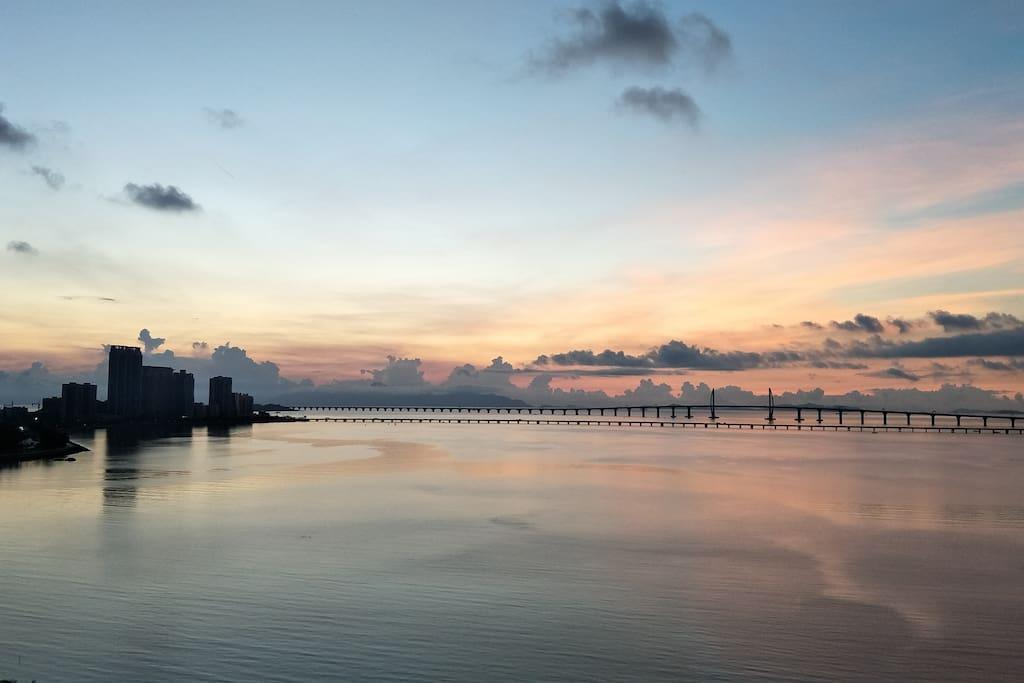 窗外海景 港珠澳大桥