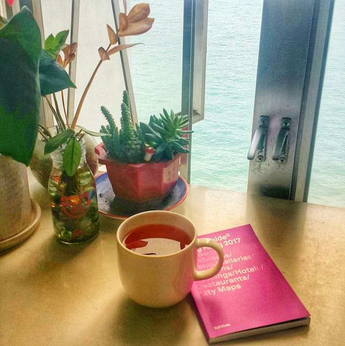 Tea and a view of the harbour