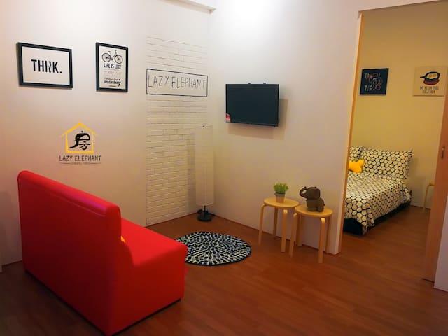 LE6 加雅街一卧一厅套房 Gaya Street(2-3Pax) 1BR Studio Room