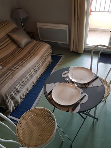 ★Studio★Terrasse ★ parking★Wifi★1er étage