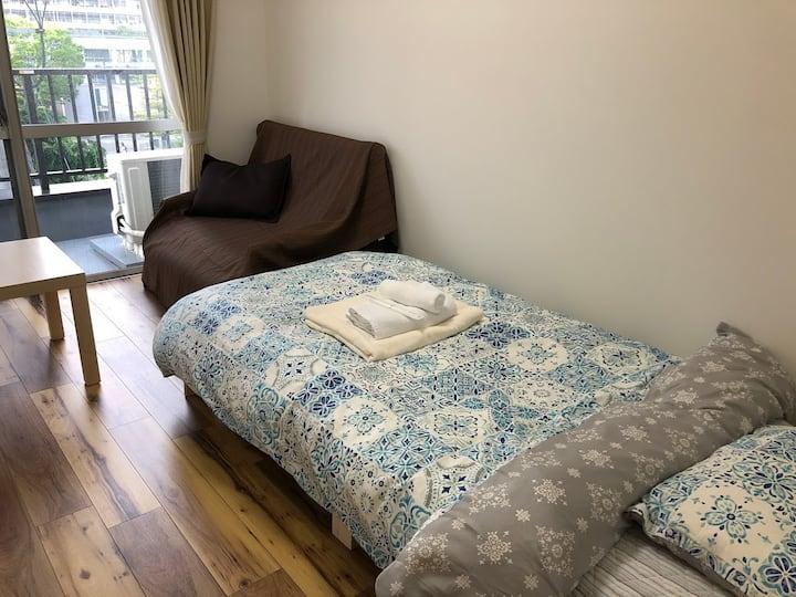 【帰国困難者支援プラン】完全個室。長期滞在も可能。無料WIFI完備。