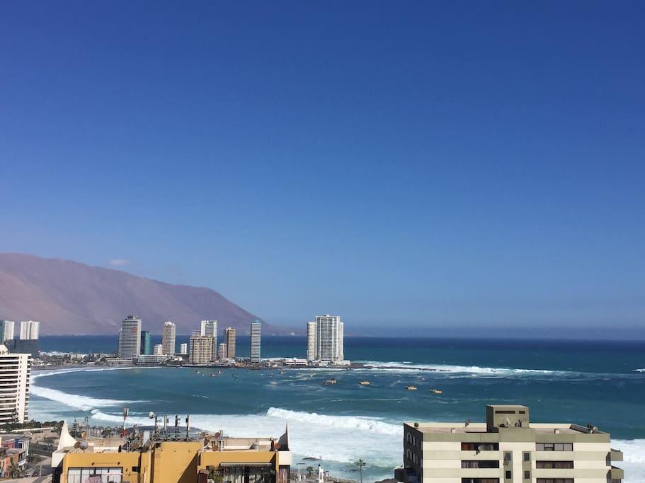 Vista a Playa Cavancha